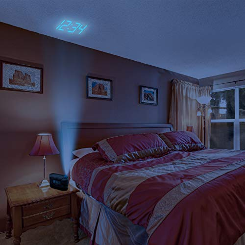 Homedics Recharged Alarm Clock & Sound Machine, Black