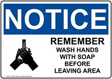 Wendana Merk Onthoud Was Handen Met Zeep Voor Verlaat Gebied Osha Veiligheidsbord, Aluminium, Metaal Waarschuwingsborden, Privé Teken, Kennisbord, 8