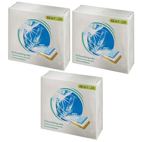 SPARES2GO All in 1 azione Disincrostante calcare Pastiglie per lavastoviglie (confezione da 72)