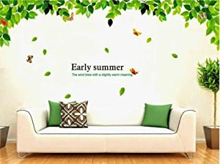 DECOR Kafe Home Decor Early Summers Leaves Wall Sticker, Wall Sticker for Bedroom, Wall Art, Wall Poster (PVC Vinyl, 177 X...