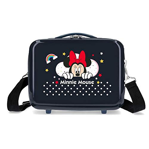 Disney Minnie Rainbow Neceser Adaptable Azul 29x21x15 cms Rígido ABS 9,14L 0,84 kgs