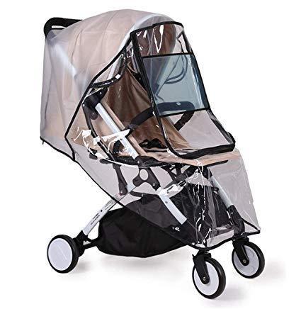 Parapioggia per passeggino, parapioggia universale, antivento, impermeabile, antivento, per passeggino, universale, zanzariera per carrozzina, lettino, ombrello, impermeabile contro la pioggia