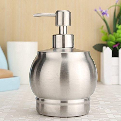 Kurelle Dispensador Jabón y Loción Acero Inoxidable Encimera Práctico Dispensador jabón líquido...