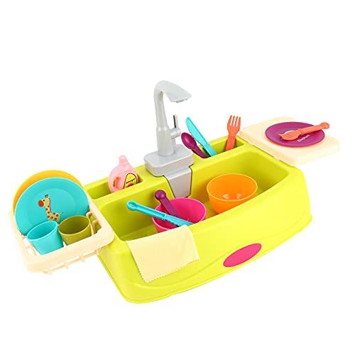 Juego de simulación Juguetes para fregadero de cocina Juego de simulación Lavar Juguetes de cocina Simulación de lavavajillas Juego de roles para niños niñas