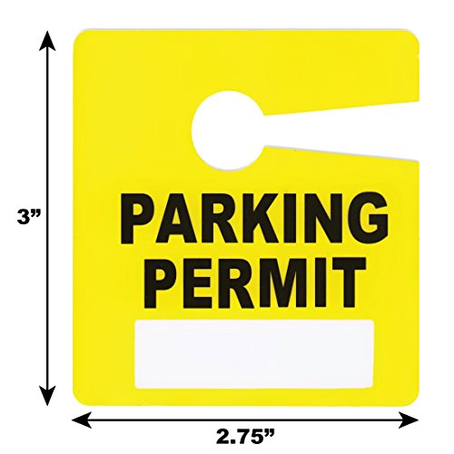 Parking Permit Pass Stock Hang Tags for Employees, Tenants, Students, Businesses, Office, Apartments, 10 Pack (Yellow) Photo #2