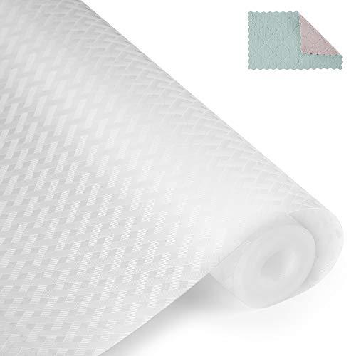 amorus Schubladenmatte, 1 PCS DIY waschbare wasserdichte Antirutschmatte, Antimehltau Antibakterielle Schubladeneinlage für Kühlschrank und Schublade (45 * 200cm)