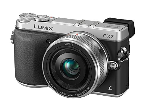 Panasonic LUMIX GX7 16.0 MP DSLM Camera with LUMIX G 20mm F1.7 II ASPH...
