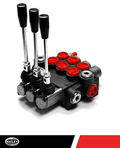 Chief G Series P80 Directional Control Valve: 3 Spool 4 Way 3 Position Spring Center, 21 GPM, 3625 PSI, SAE 10 Inlet and 12 Outlet Ports and SAE 10 Work Ports, 1500-3625 PSI Relief Setting, 220901