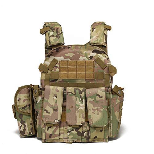 Hanyaqi Veste de combat tactique multifonctionnelle pour extérieur MOLLE Expansion et commodité d'entraînement militaire CS Réel Combat Exercice Combinaison Combinaison CP, Camouflage CP