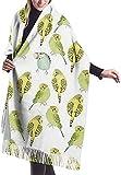 Abrigo Estola Mantón Abrigo Bufanda Manta Bufanda, Bufanda de mujer Periquitos de acuarela Bufanda clásica de borla a cuadros Bufanda cálida de otoño e invierno