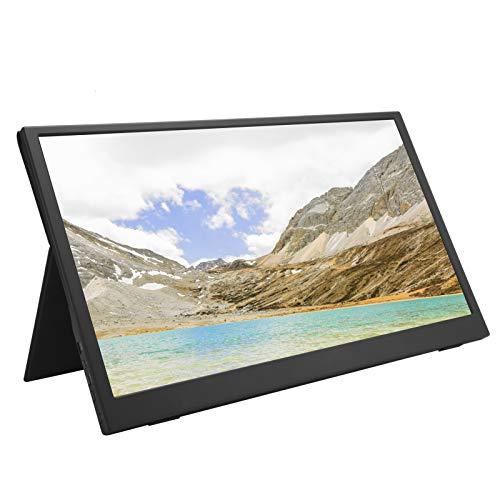 Monitor portátil, 15,6 pulgadas 1920x1080 IPS Full HD Portátil ultra delgado con alimentación por USB Pantalla para juegos de computadora Segunda pantalla, Dual Type-C y Mini HDMI, FreeSync