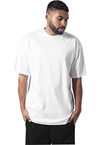 Oferta de Urban Classics Basic Crew Neck Tall Tee, Camiseta, para Hombre, white, S