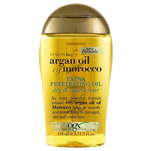 OGX Aceite de Argán de Marruecos, Extra Strength aceite penetrante, cabello dañado, gotas regeneradoras - 100 ml (2723800)