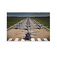 戦闘機シリーズのポスター-米空軍A-10攻撃機の巨大な編成、 キャンバスポスター寝室の装飾スポーツ風景オフィスルームの装飾ギフト,キャンバスポスター壁アートの装飾リビングルームの寝室の装飾のための絵画の印刷 08x12inch(20x30cm)