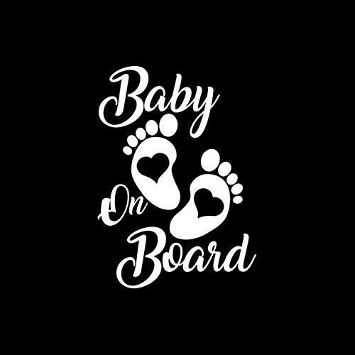 Motorradaufkleber 12,7 cm * 17,8 cm Aufkleber-Vinyl Hobby-Auto-Aufkleber Baby On Board Schwarz/Silber Wiedergeburt (Color Name : Silver)