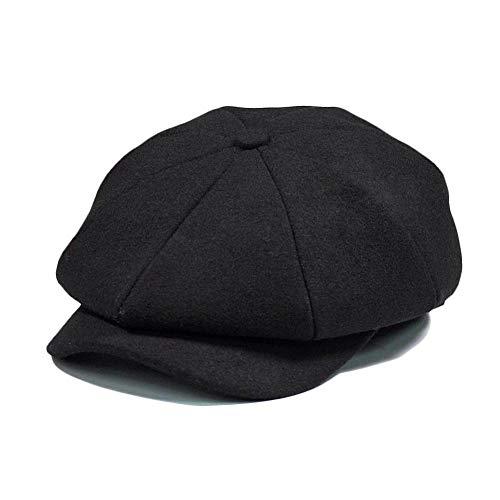 julyso Negro Gris Herringbone Newsboy 8 Panel Baker Boy Tweed Flat Cap Hombres Gatsby Sombrero stylish