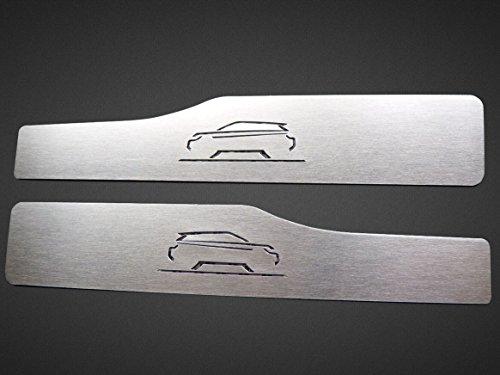 Umbrales (Trasero) De Acero para 2011-2018 Evoque - 2 Piezas para Vehículo de 5 Puertas Molduras Protección Inox Metal Cepillado Interior Personalizados Hechos a Medida Tuning
