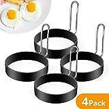 Egg Ring, 4 Pack Stainless Steel Egg Ring, Professional Egg Ring Set Round Egg Cooker Rings for...