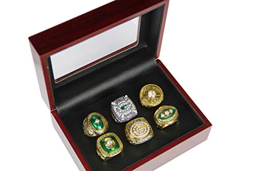 Set of 6 Green Bay Packers Championship Ring by Display Box Set (with box)
