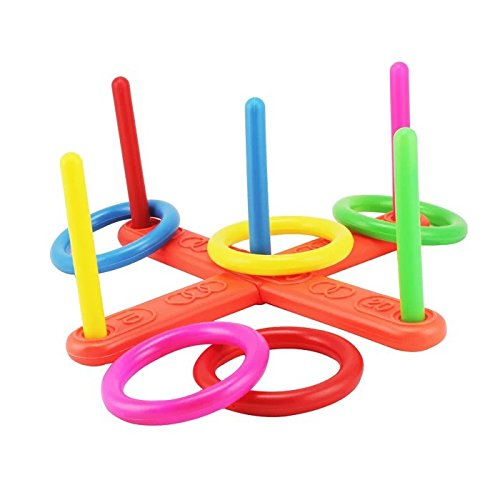 Loop Hoop Ring Toss Game,Outdoor/Indoor Quoits Ring Game For Kids or Family