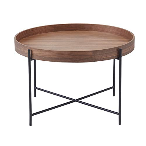 QINGZHUO Wrought Iron Bracket Side Tables,Wooden Tabletop,Combination Corner Table Side Table,Living Room Balcony Coffee Tables.