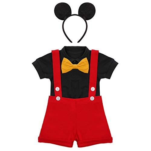Conjunto de ropa de Mickey para beb nio con diseo de tarta de primer cumpleaos de Gentleman