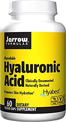 Jarrow Formulas Hyaluronic Acid, Provides Matrix for Skin Hydration and Skin Repair, 120 mg, 60 Veggie Capsules