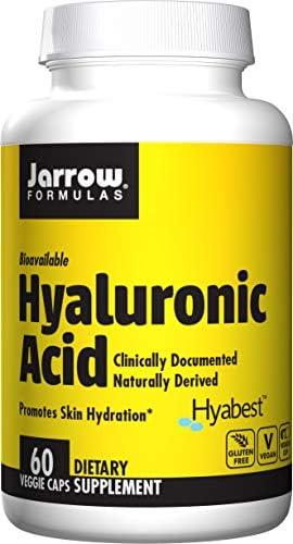Jarrow Formulas Hyaluronic Acid, Provides Matrix for Skin Hydration and Skin Repair, 120 mg, 60 Veggie Capsules