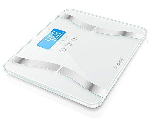 Surpahs Dual-S 330 Lb Body Fat Scale, 4 User Recognition, Measures...
