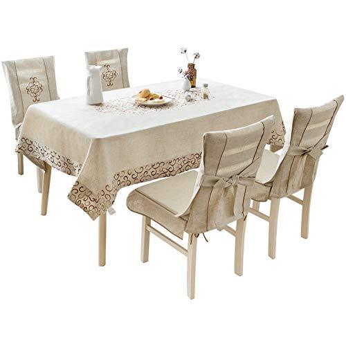 GQY behang - behang- salontafel - rechthoekig linnen geborduurd tafelkleed 140 * 180cm