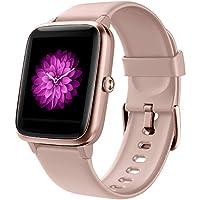 🌈【Smartwatch per donna】 GRDE Smartwatch con l'ultimo chipset Bluetooth V5.0. Usa 9 modalità di allenamento per controllare la frequenza cardiaca, i passi, condividere il GPS, tenere traccia delle calorie bruciate, dormire e altre calorie. Puoi visual...