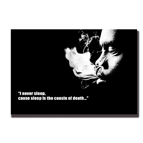 Nasty NAS Rap Singer Art Poster Muurdoek Print Foto's Room Print op Canvas Decoratie in Huis -60x90cm Geen Frame