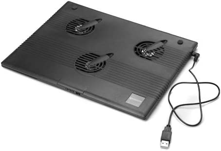 Executive El Paso Mall Notebook Topics on TV Cooler Pad with 3 Built-in Fans Gray 60mm