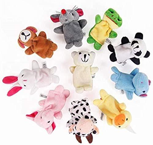 Spielzeug 10 stücke Nette Cartoon Tierform Doppelschicht Fingerpuppe mit Füßen Plüschspielwaren für Geschichtenerzählen Jikasifa