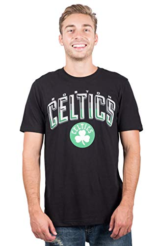 Ultra Game NBA Boston Celtics Mens Arched Plexi Short Sleeve Tee Shirt, Black, X-Large