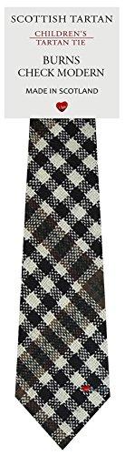 I Luv Ltd Garçon Tout Cravate en Laine Tissé et Fabriqué en Ecosse à Burns Modern Check