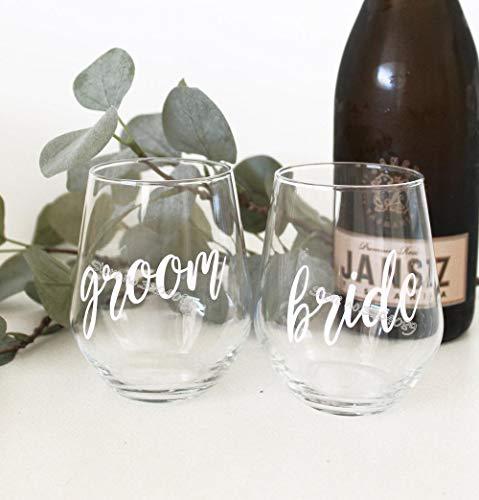 Cooldeerydm Bruid en Groom Naam Bruiloft Party Sticker Wijn Kristal Stemless Wijnglas Sticker Toast Gast Decoratie Decal Eb005