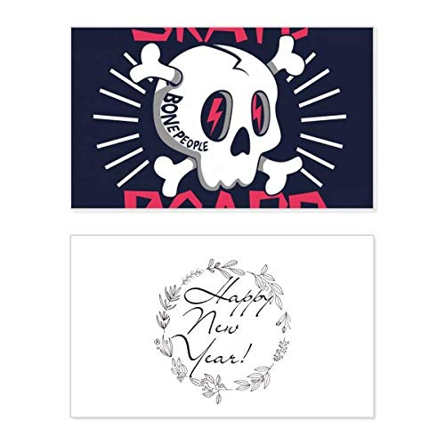 Skate Board Indian Skeleton Sacrifice Totem New Year Card Commemorative Bless Message