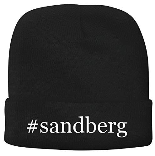 BH Cool Designs #Sandberg - Men's Hashtag Soft & Comfortable Beanie Hat Cap, Black, One Size