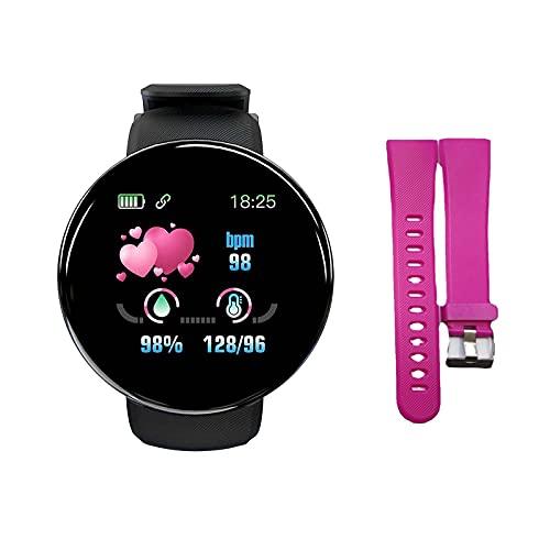 YQRDSHJS Reloj inteligente de 1,44 pulgadas D18S, monitor de sueño, salud, resistente al agua, reloj deportivo para hombre y mujer, reloj deportivo + correa de reloj