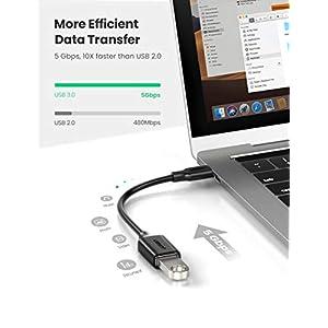 UGREEN Cable OTG USB C a USB 3.0 Adaptador OTG USB 3.1 Tipo C 5Gbps para Samsung Galaxy S20 S10+ S9 S8 Note 10 Tab S7 S6, Huawei P40 P30, Xiaomi Mi 10 Redmi Note 8, iPad Pro 2018/2020 Macbook Pro