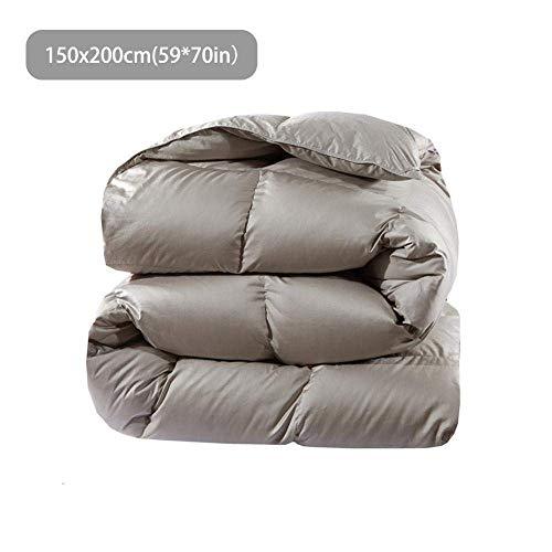 Fulinmen Super King Duvet,Goose Down Winter Quilt Comforter Blanket Duvet Filling Cotton Cover Duvet Quilt Core Home Hotel Winter Quilt Bedding Washable-1.5mx2m