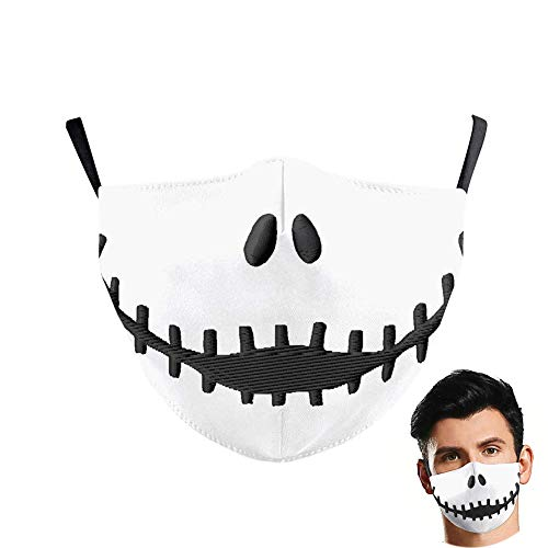 DFGHJKNN Máscara De Halloween 2 Piezas - Máscara De Pesadilla Antes De Navidad - Cosplay De Halloween para Niños Adultos - Máscaras De Accesorios De Disfraces para Hombre Y Mujer,L