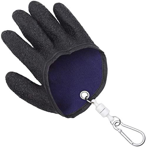 Guante con liberación de imán, guantes de pesca profesionales para pesca con liberación de imán, nuevo tipo de guante de pesca antideslizante resistente al desgaste, guantes de pesca duraderos con de