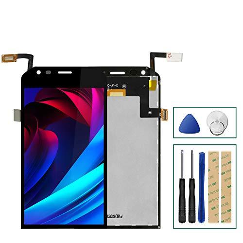 XCYY Ajuste para Caterpillar Cat S40 pantalla LCD+reemplazo de pantalla táctil digitalizador Asamblea panel de reparación de teléfono pantalla de cristal reemplazo (color: negro)