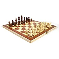 MQJ 29Cmの木のチェス盤の折りたたみボードチェスゲーム面白い国際チェス党家族活動のためのセット,16インチ