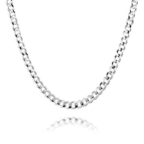 STERLL Herren Hals-Kette Sterling-Silber 925 55 cm Ohne Anhänger Schmucketui Kleine Geschenke für Männer