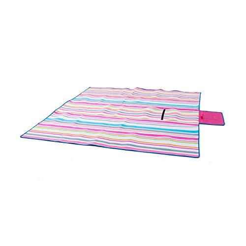 Fengbingl-hm Picknickdecke Mat Strandmatte Picknick-Matte Moisture Barrier-Zelt-Matten Doppelseitige Kinder Krabbeln Mat für Familiencamping im Freien (Farbe : Rosa, Größe : 2.0x2.0m)