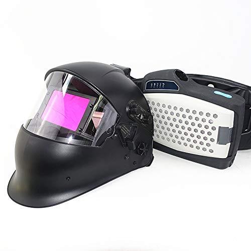 Powered Air Purifying Respirator Auto Darkening Welding Helmet, Personal Protective Equipment, Industry Welding Mask PAPR Kit (B. Helmet PAPR Kit)