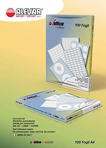 2700 Etichette Adesive con margini - 56 x 28 mm - 27 etichette bianche per foglio - 100 fogli A4
